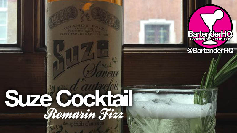 Suze Cocktail Romarin Fizz